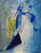 Bin geboren, werde sein 2008 105 cm x 80 cm Acryl Öl auf Holz