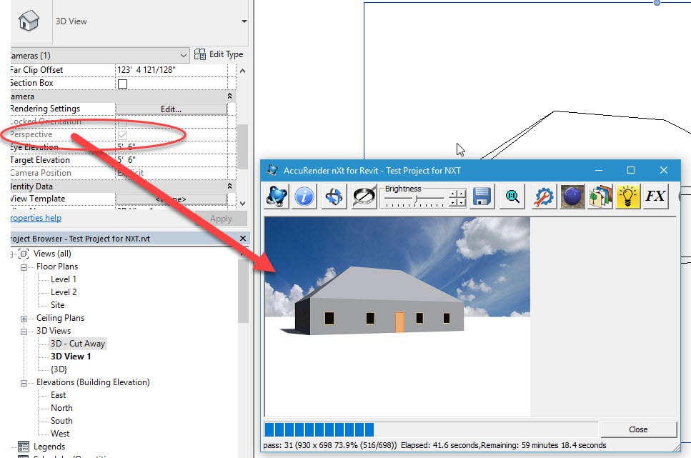 Revit 2018 - Problems with rending image - Render Plus Software