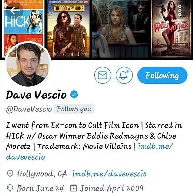 """SHOUT OUT TO!! DAVE VESCIO (CULT FILM ICON) THANK FOR YOUR SUPPORT YOUNG GIFTED FEATURED IN LOST IN VAN SINESTRA"""" https://twitter.com/YoungGifted3000/status/804873602902425600?s=19"""