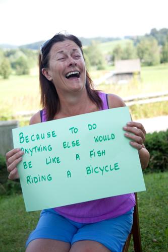 a fish on a bike?