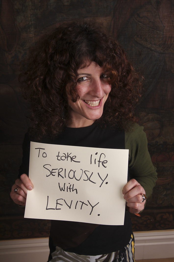 To take life seriously with levity.