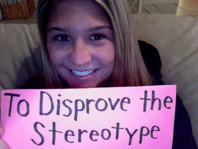 Lindsey - To disprove the stereotype