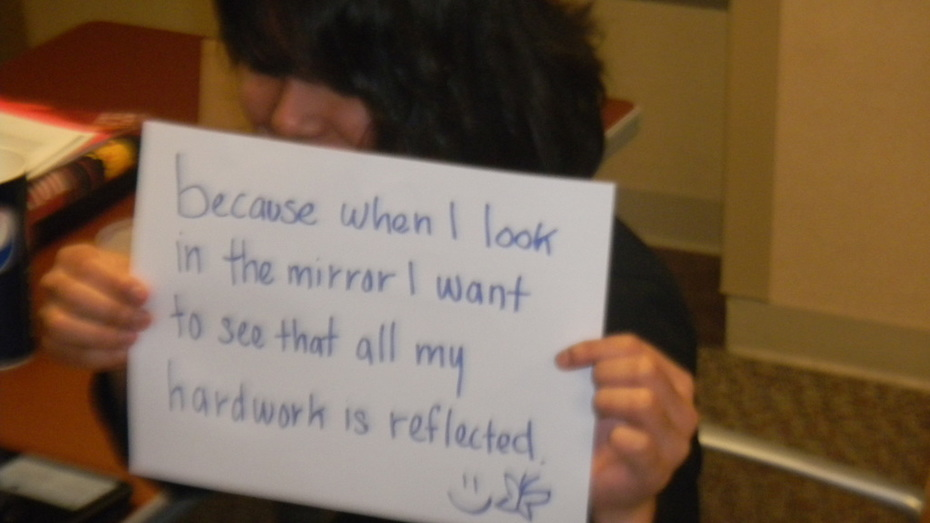 Eliza-I want to see all my hard work is reflected