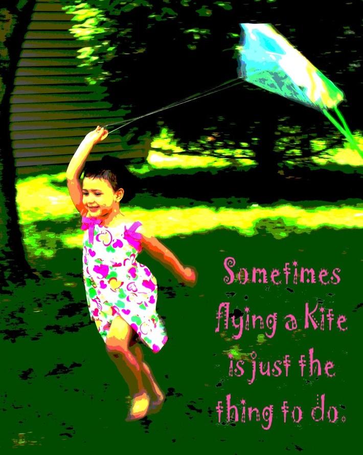 sometimes flying a kite