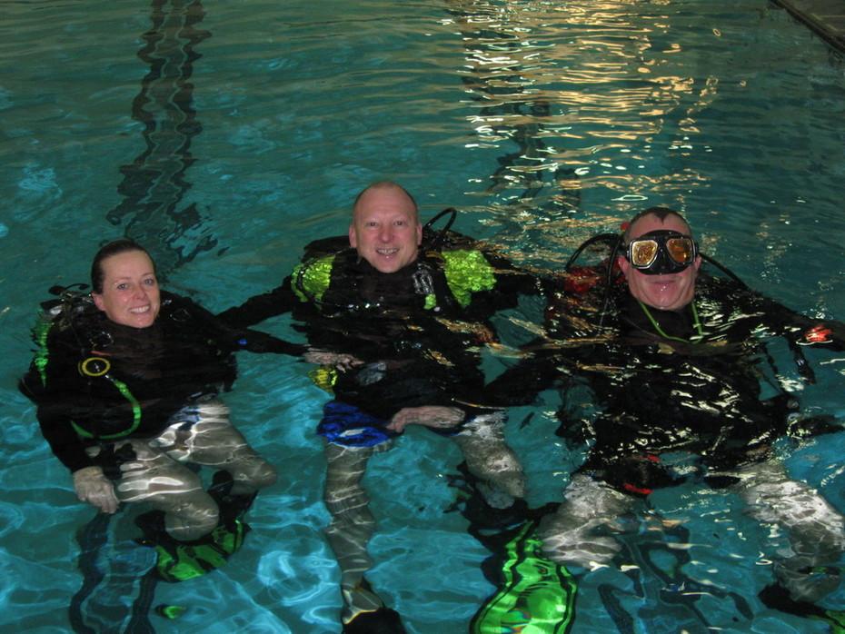 Dive skills testing day.