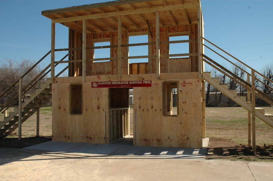 Hanover (VA) FF Survival prop at LFD Training Field