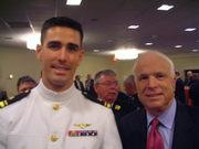 Lt. Dean Halton and Senator John McCain