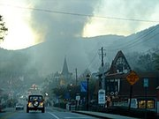 veiw of wurst house fire