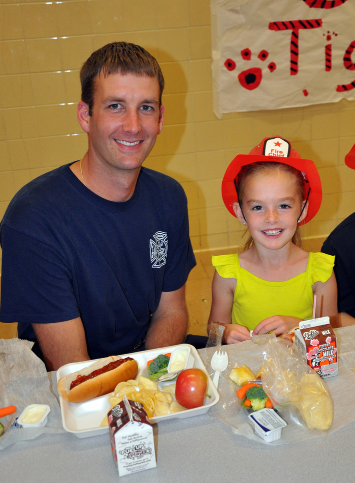 Me and my daughter Kylie during fire prevention week, 2011