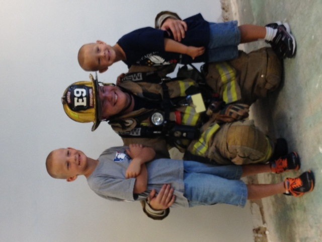 My boys and I after 2013 Stair Climb
