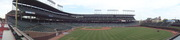 Wrigley Field panorama from right field bleachers during tour