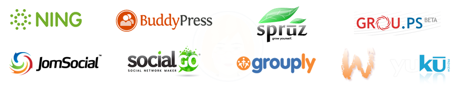 Social Network Directory and Social Network Creator Hub for all Social Networking platforms: Ning, Spruz, SocialGO, Grou.ps, Grouply, WackWall, JomSocial, BuddyPress, Yuku, etc...
