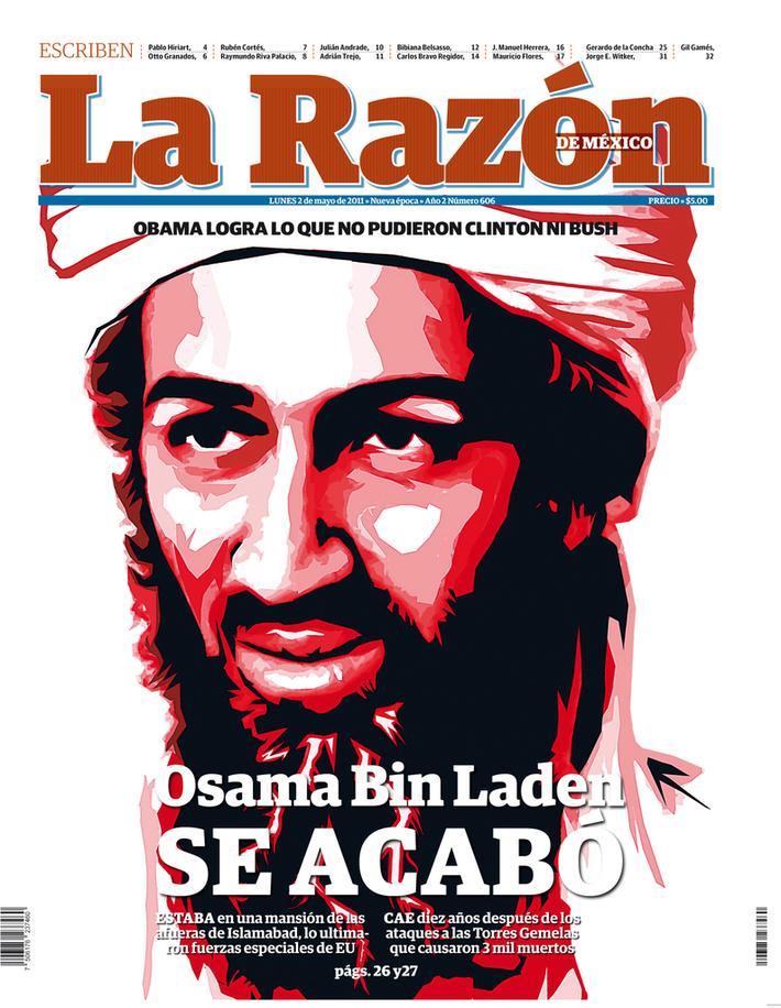 Portada de muerte de Osama Bin Laden