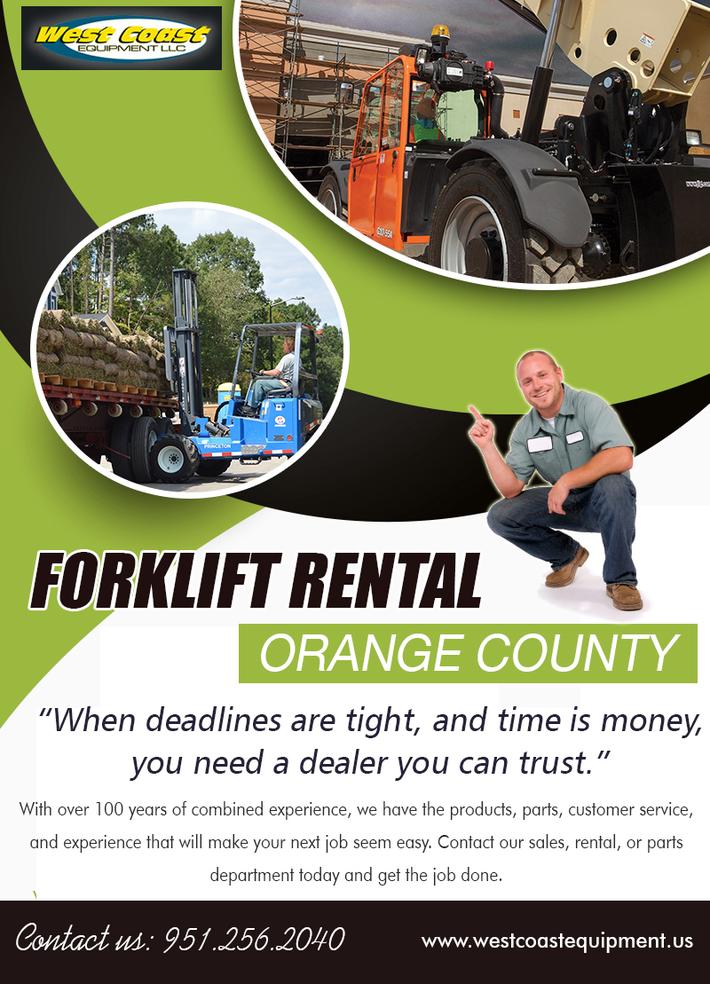 Forklift Rental Orange County | 9512562040 | westcoastequipment.us