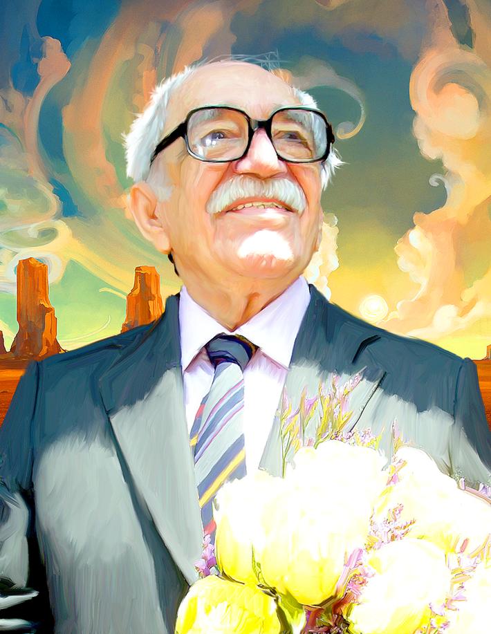 Ilustración de Gabriel García Márquez