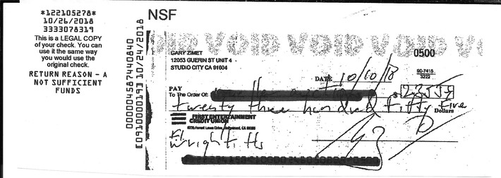 Gary Zimit of Studio City, CA - Tries to Rip Off An
