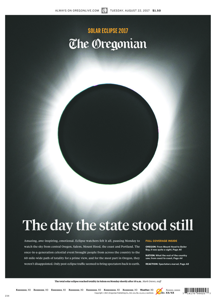 Solar Eclipse 2017: The Oregonian