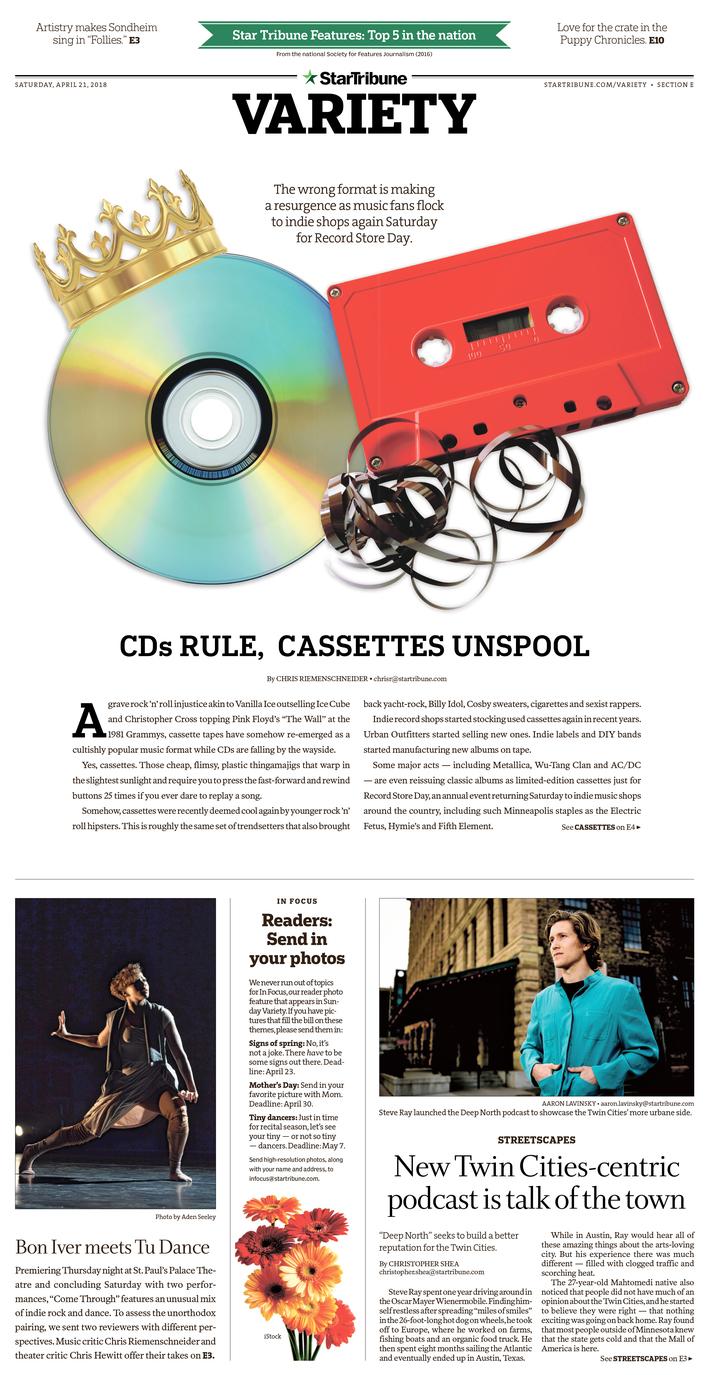 CDs rule, cassettes unspool, April 2018