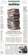 Newspapers fear newsprint price hike, January 2018