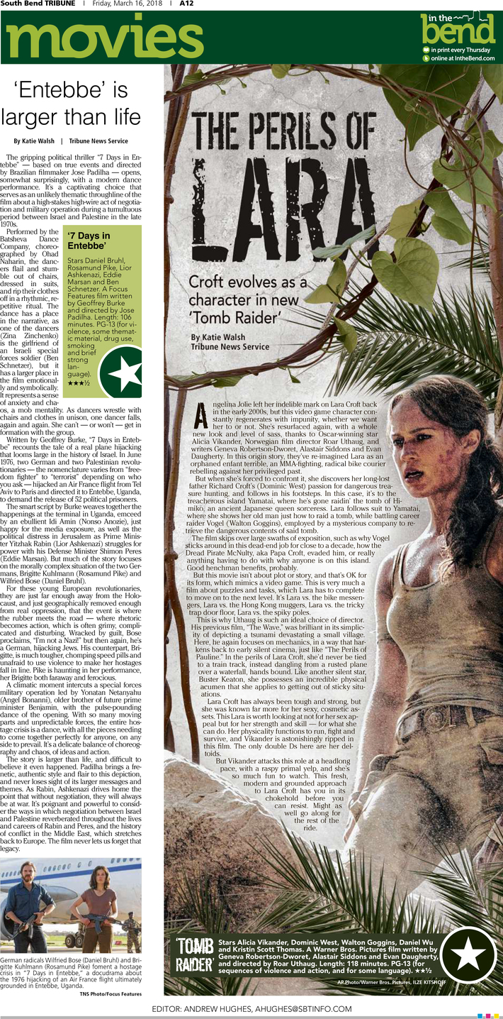 Movie Page for 'Tomb Raider'