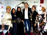 Mohamed Dekkak with the Fashionists and Incfluencers at Dubai Modest Fashion Week - Emerald Palace Kempinski Dubai  Read More: https://dekkak.com/mohamed-dekkak-dubai-modest-fashion-week/ #dmfw #fashi