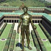Estatua de Nerón como el dios Helios