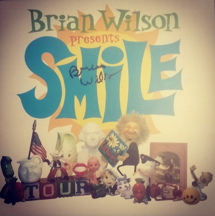 Brian Wilson signed Presents SMiLE 2004 tour program