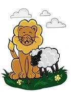 Lion&Lamb Illustration