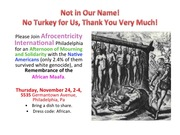 Thanksgiving Day, A Day of Mourning - Observance requirements