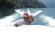 Me and Di on Lake Como