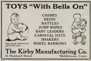Kirby ad - Toys with bells on 1926