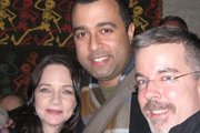 Melissa Exelberth, Anthony Mendez and Peter K. O'Connell at the 2009 New York City Voiceover Mixer