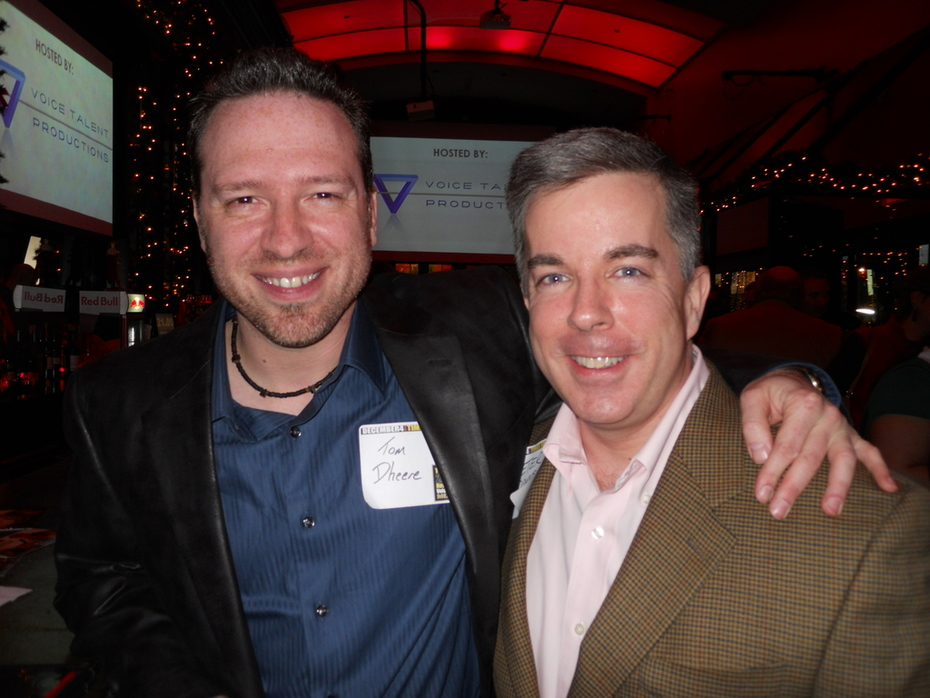 Tom Dheere & Peter K. O'Connell at the 2010 NYC Voiceover Mixer