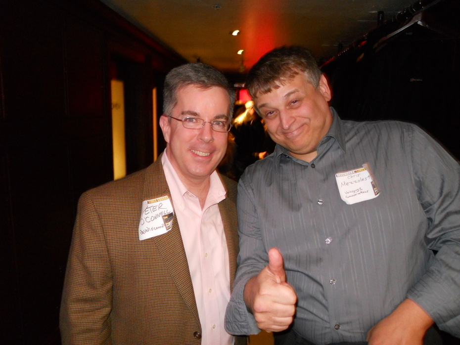 Peter K. O'Connell & Chris Mezzolesta at the 2010 NYC Voiceover Mixer