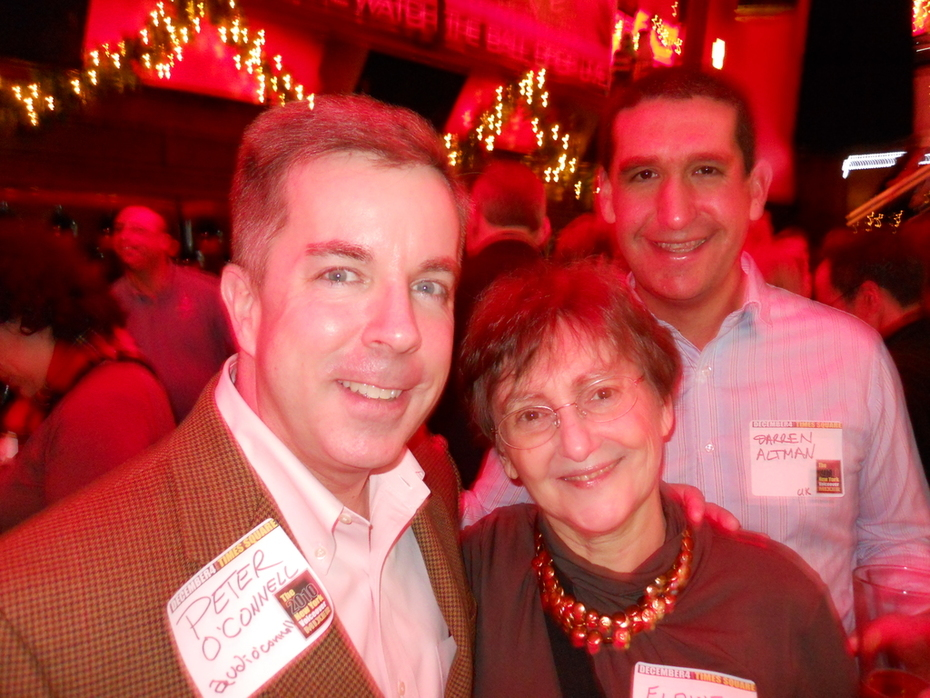 Peter K. O'Connell, Elaine Singer & Darren Altman at the 2010 NYC Voiceover Mixer