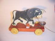 N N Hill 1938 Ferdinand the Bull bell toy