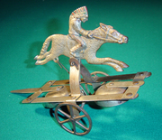 N N Hill Indian Rider Push Toy  No 570 1919