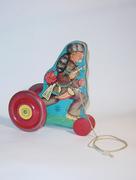 N N Hill Davey Crockett pull toy