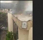 Photos Nigeria Football Federation [NFF] HQ on FIRE