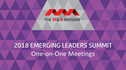 2018 Emerging Leaders Summit - One-on-One Meetings