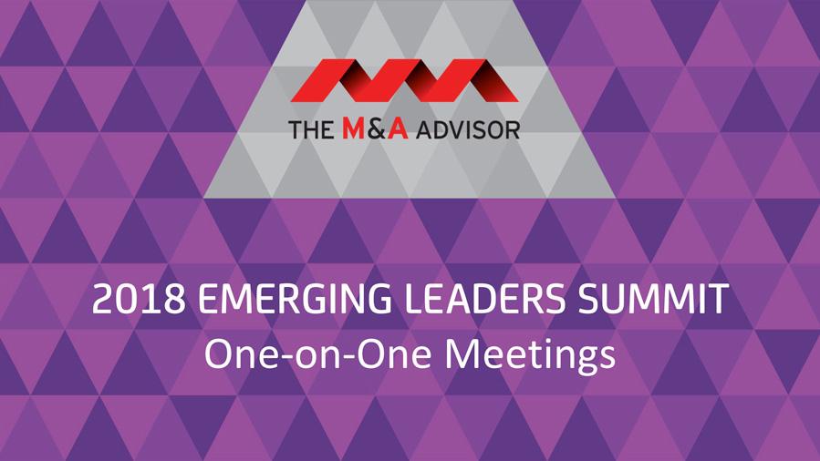 2018 Emerging Leaders Summit - One-on-One Meetings