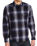 Airbrush Patchy Wool Flannel Shirts