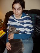Me with Kosette, my oldest cat