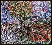Wind/tree flow drawing.