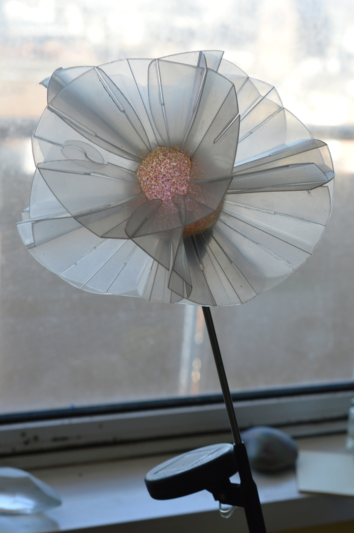 Brighton Flower Transparent, Holographic Modular Shell Structure