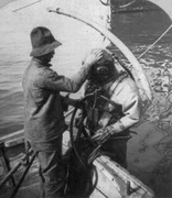 USN Diver, salvaging the Maine 1898