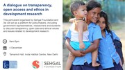 A dialogue on transparency, open access and ethics in development research