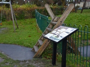 At last - the new Children's Nature Guide Board has been set up in the play area, Dec 3rd, '12