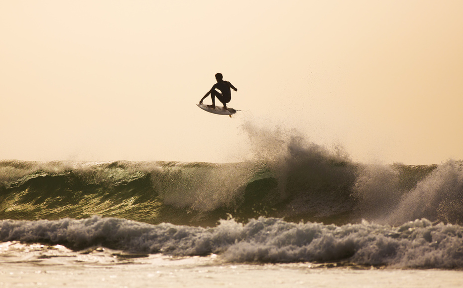 Mike February getting in some practice before the Quiksilver event this weekend.