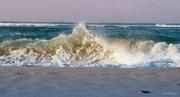 Purple Sunset Shorebreak Splash